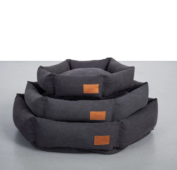 Velvet Hippo Hex Cushion Bed - Shadow