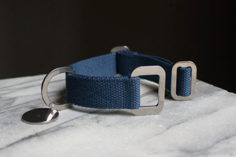 Hindquarters - Canvas Collar - Puddle Blue