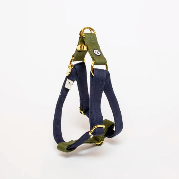 Eat Play Wag Harness - Navy + Olive