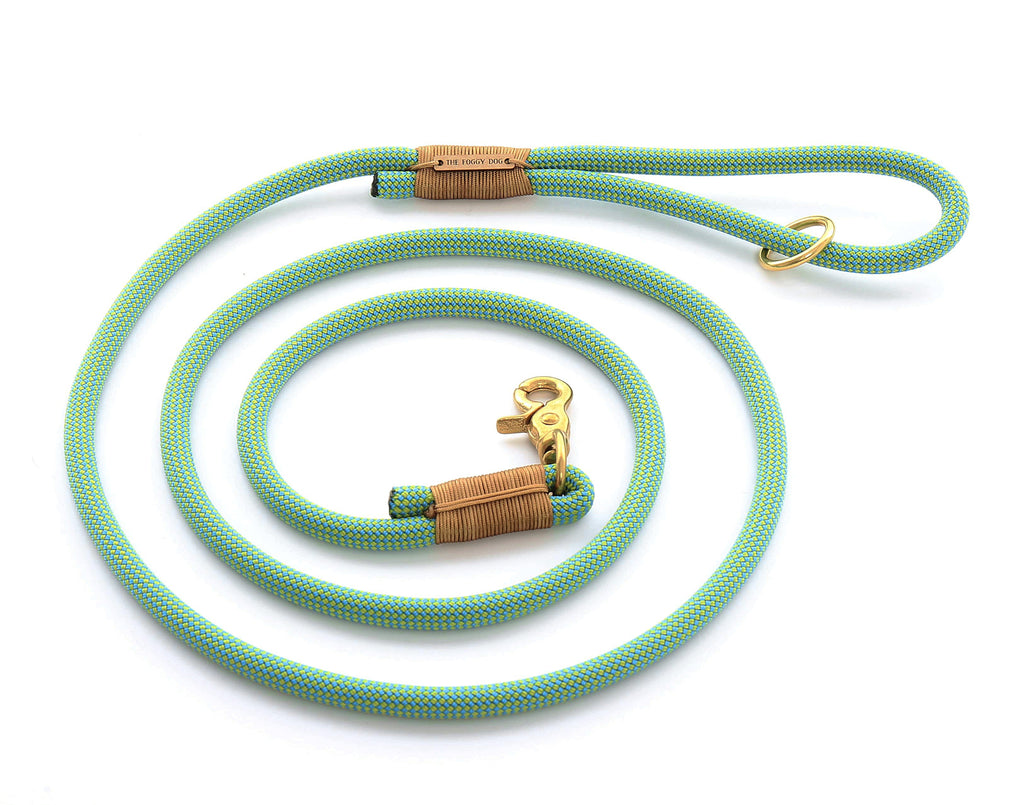 The Foggy Dog Spearmint Climbing Rope Leash
