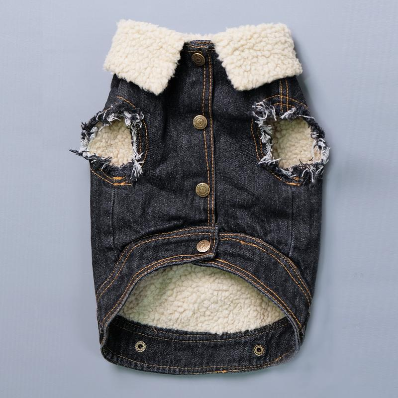Pet Haus Denim Sherpa Vest