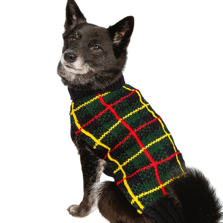 Chilly Dog - Tartan Plaid Sweater