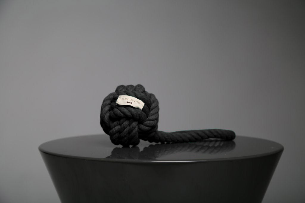 Max-Bone Hobie Noir Rope Toy - Black