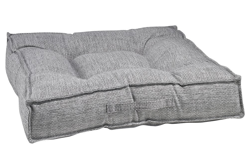 Bowsers Square Bed - Grey Linen Alumnia