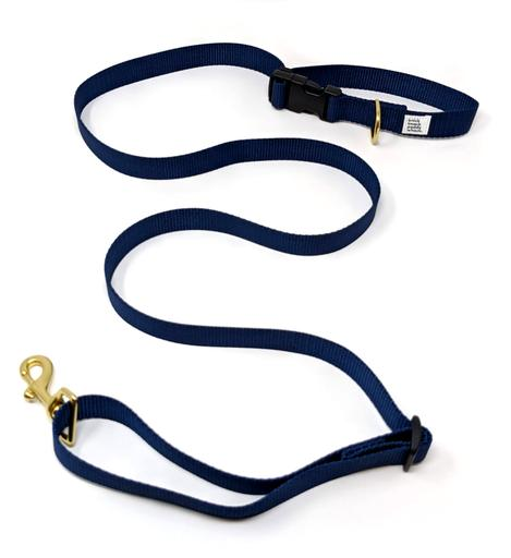 Knick Knack Paddy Whack - Adjustable Hands Free Leash - Navy