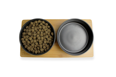 BEONEBREED Bamboo and Ceramic Food Bowl Set (Sizes) - Trendy Print