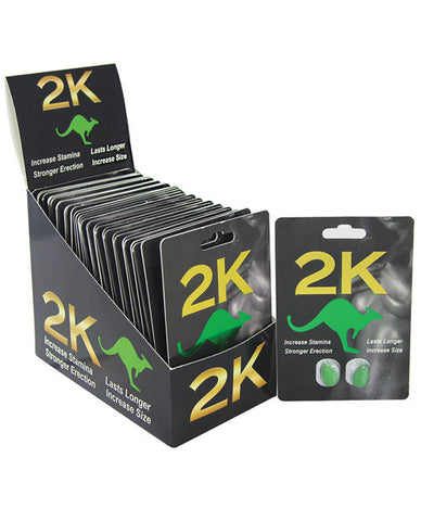 Kangaroo 2K for Men Display - 2 Capsule Blister Display of 36
