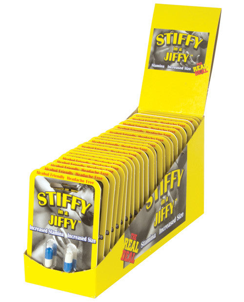 Stiffy in a Jiffy Sexual Enhancer for Men - 2 Capsule Blister Display of 24
