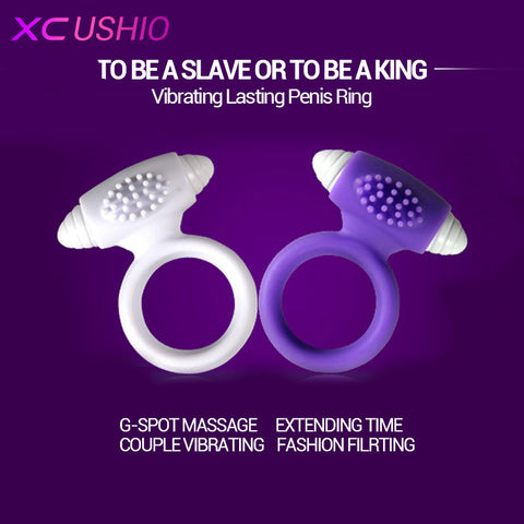 Silicone Vibrating Cock Ring Sex Toys For Men