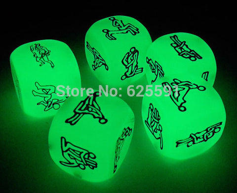 5pcs Glow in the dark Sex Dice Sex Games Sex Toys