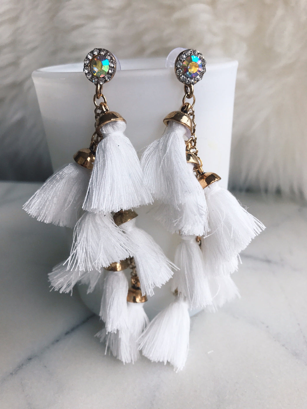 Maldives Oversized Tassel Drop Earrings