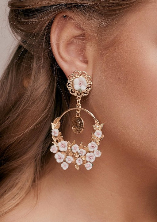 Amelia Floral Baroque Earrings d & g dolce earrings taylor and rose dolce gabanna inspired earrings baroque earrings