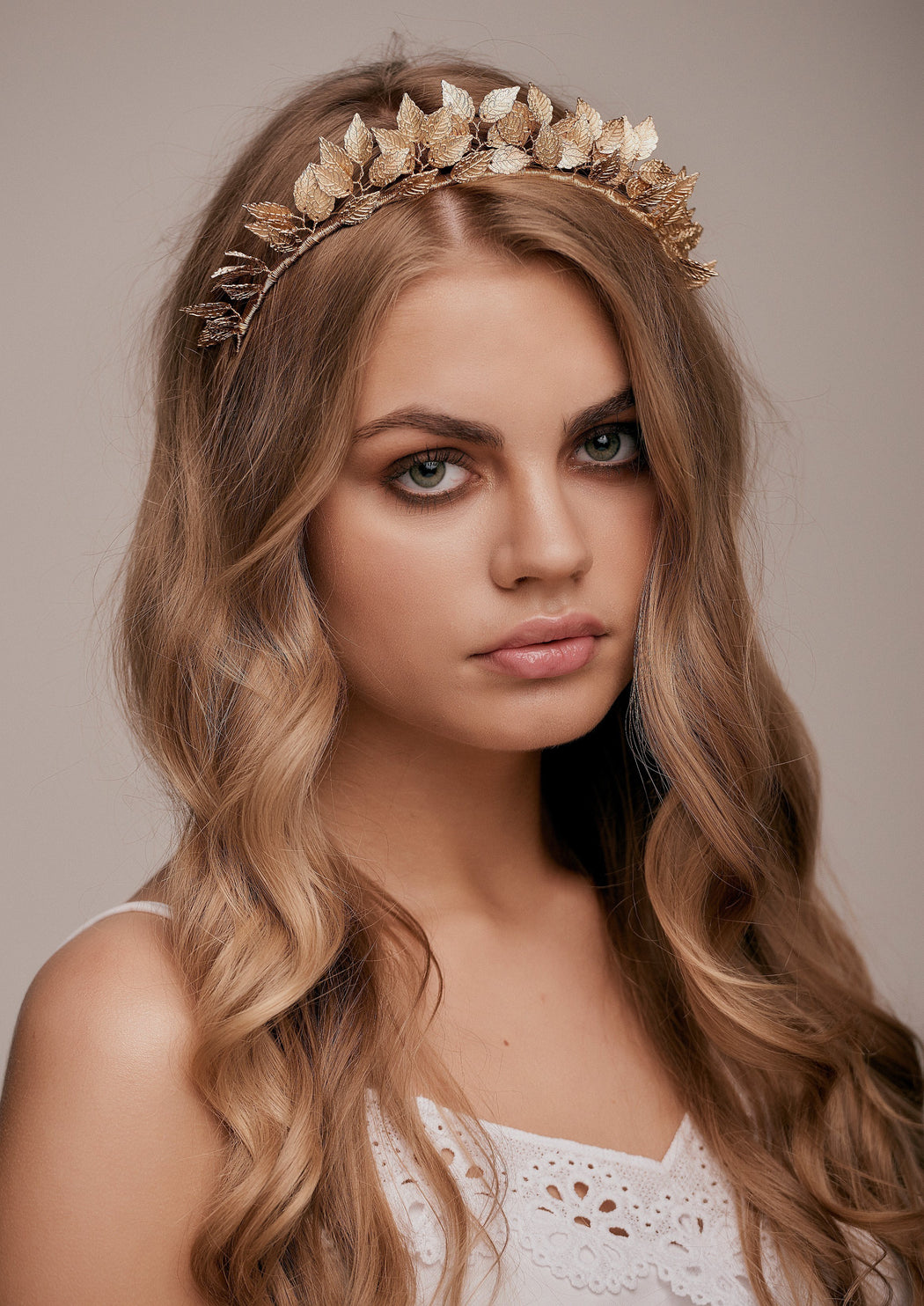 Gold Leaf Crown hairband wedding hair bridal hairstyle bohemian gilded  headband ... e833a2ae413