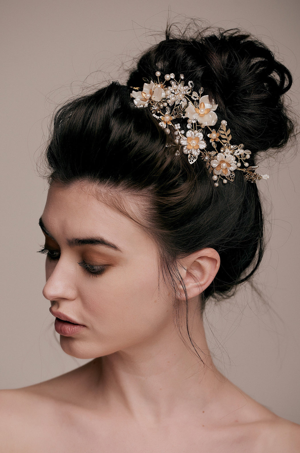 Mariah Luxe Floral Embellished Hair Vine taylor and rose wedding hair bride hair style bridal hairdo