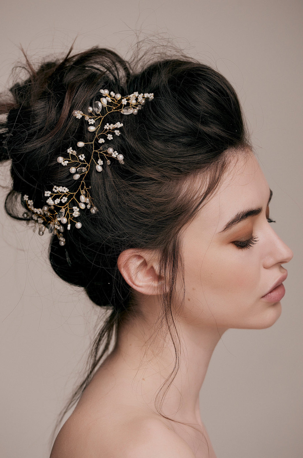 Cleo pearl beaded Hair Vine bridal hair accessory wedding hairstyle accessory taylor and rose