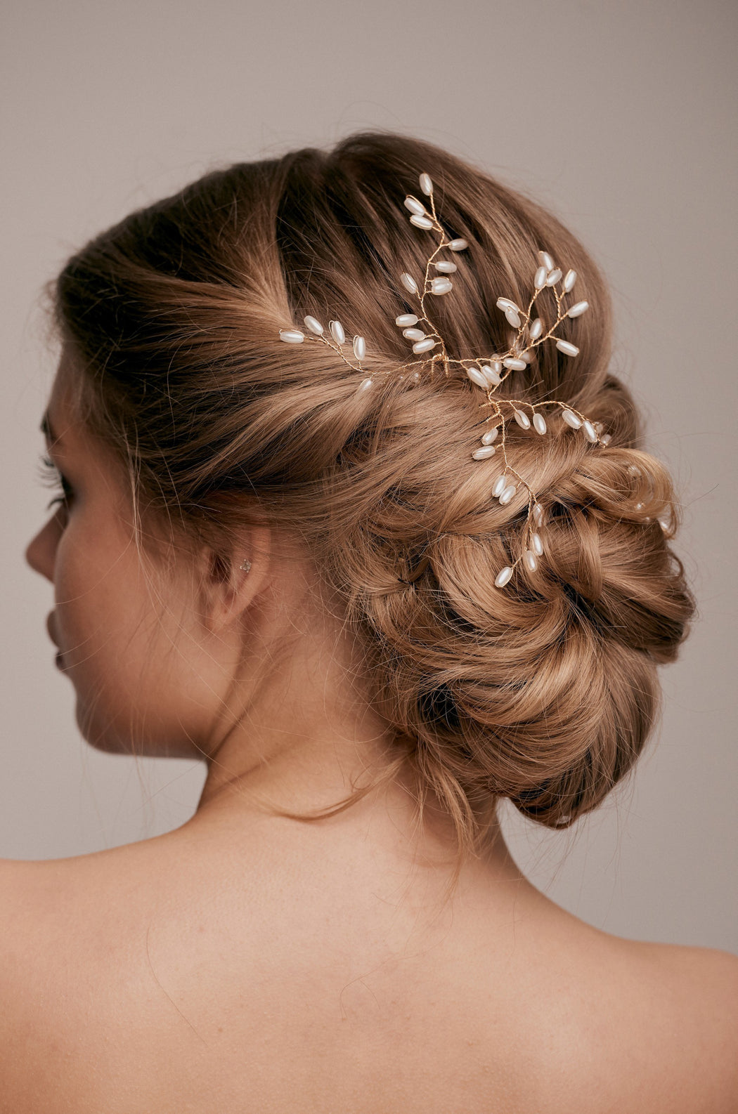 Ana gold pearl hair pin taylor and rose bridal hair ideas wedding guest hairstyle