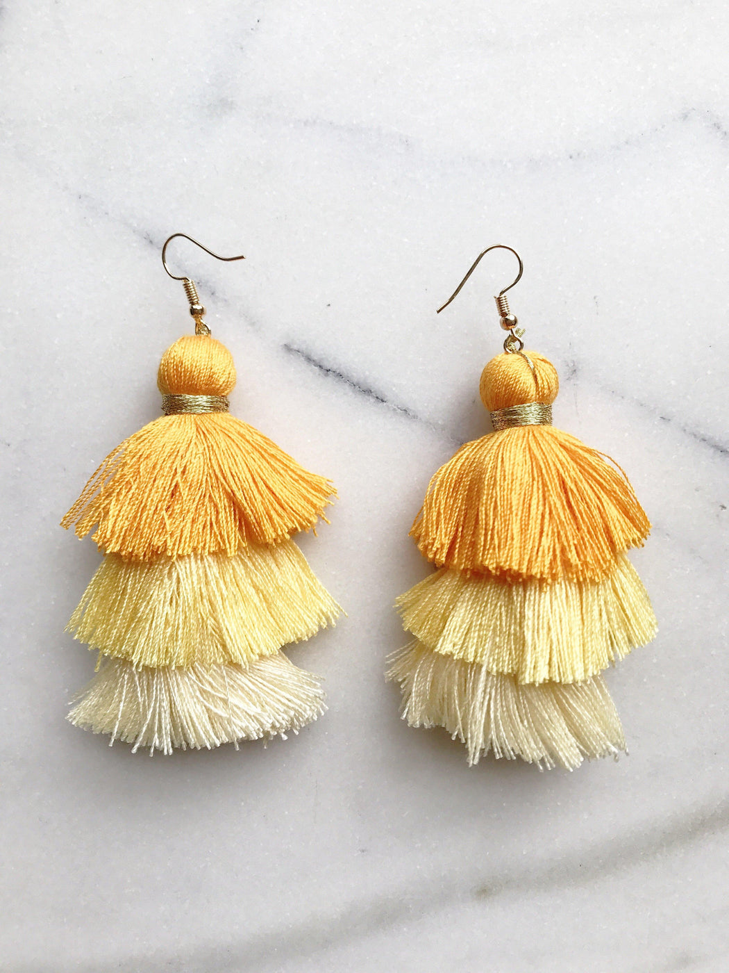 Havana Oversized Fan Tassel Earrings