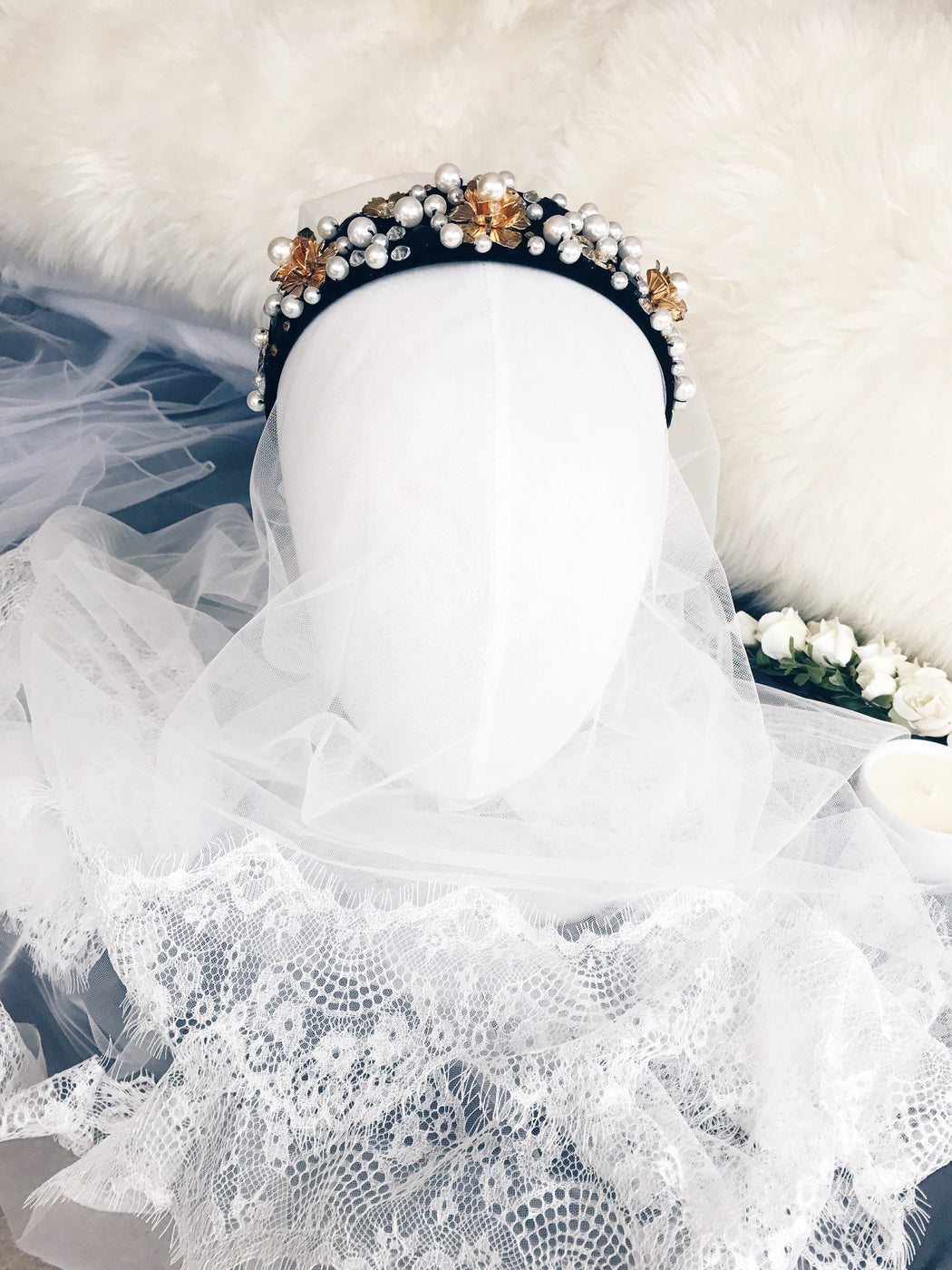 Blair waldorf jenny humphrey Embellished pearl Headband hairband gossip girl hair accessory formal bridal luxe hairstyle