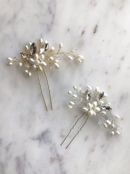 Claire Crystal Beaded Hair Pin