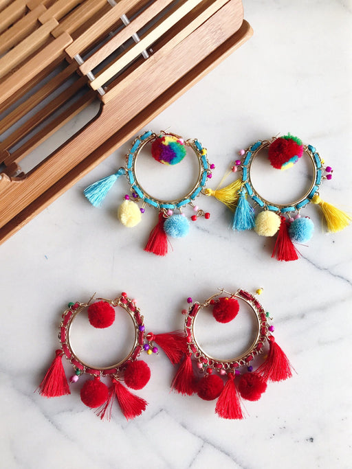 pom pom tassel earrings resort collection summer jewellery trends summer fashion accessories
