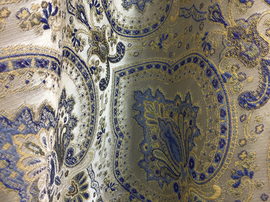 A baroque-inspired pattern by S& B Silk & Beyond at Heimtextil