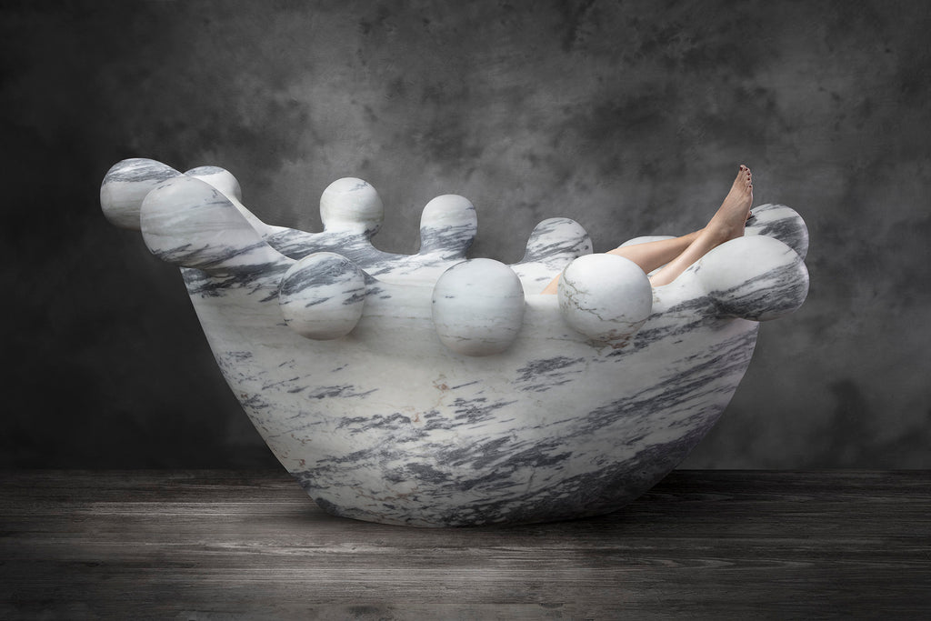 Bathy Bates, a monumental tub showing in Design Miami at R & Company