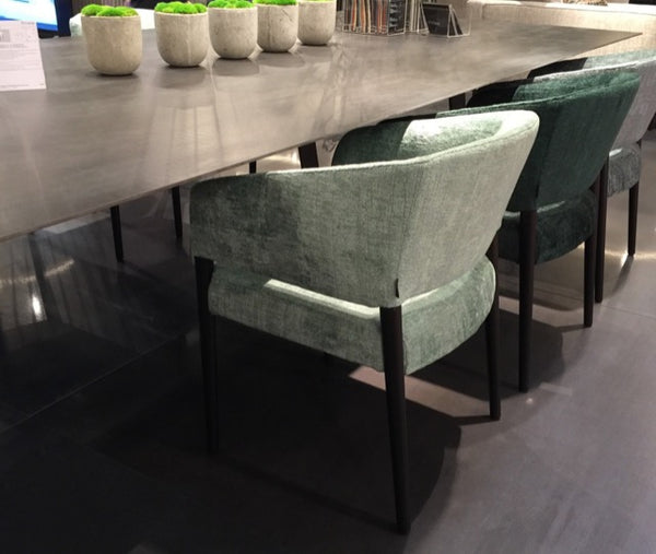 Triss debuted chairs in mossy shades of velvet at Maison & Objet. Image © adroyt TrendTake.