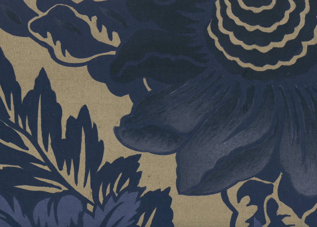 Timothy Corrigan's Broadland pattern wallpaper in Starry Night for Fromental