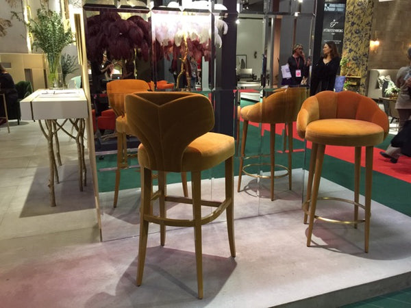 Meloday and Olympia counter stools from Munna at Maison & Objet.