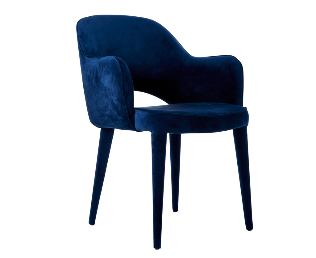 Pols Potten's Cosy Armchair in navy velvet debuted at Maison & Objet