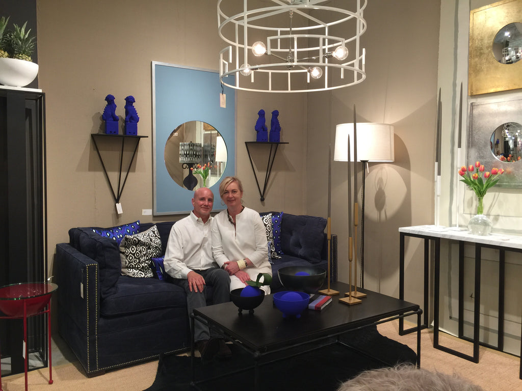 The James sofa at High Point Market debuting in the vanCollier booth