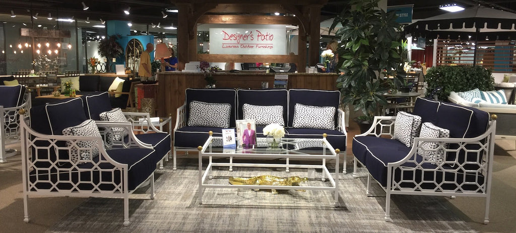 Barclay Butera's patio furniture for Designer's Patio during Dallas Market