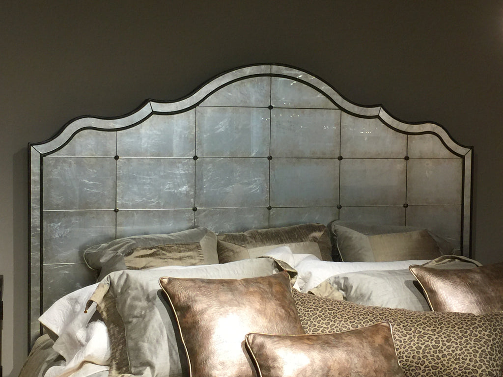 Bill Luttrell has such a wide array of products in his showroom in the Dallas Market Center, like this lovely mirrored bed