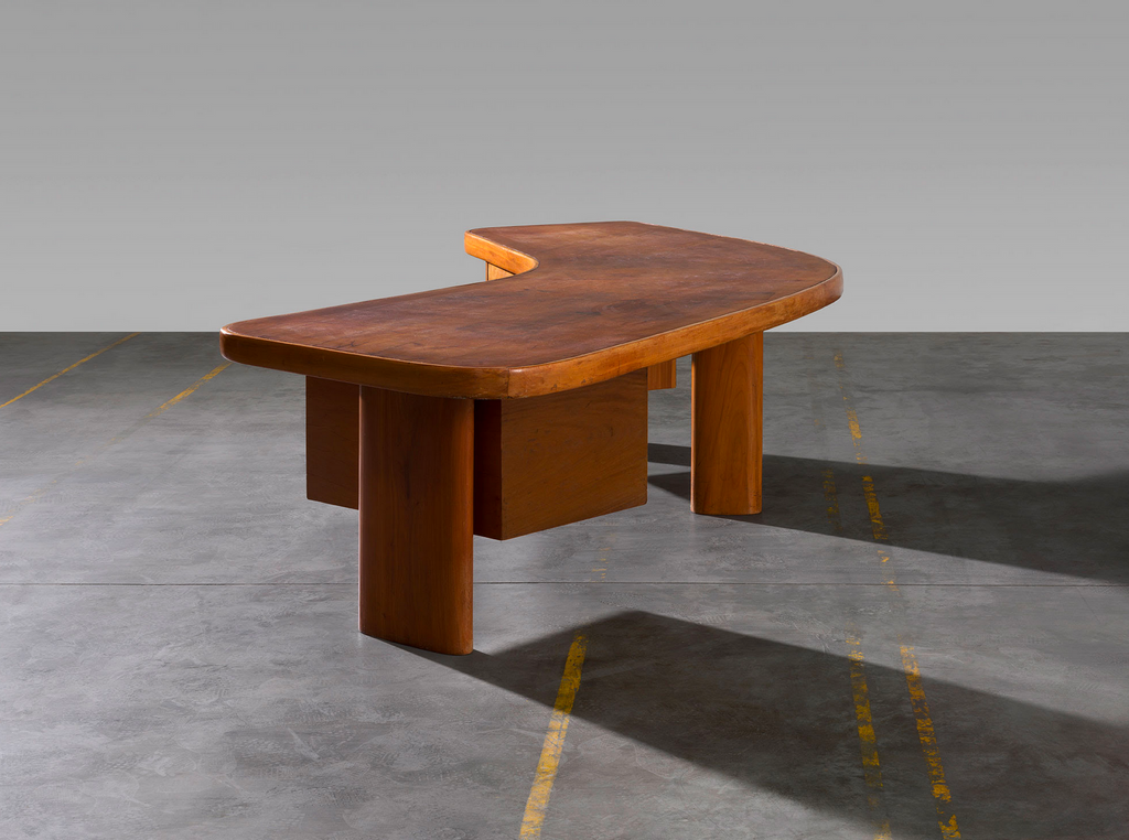 Charlotte Perriand designed the Free Form desk in 1963; now offered through Laffanour Galerie Downtown