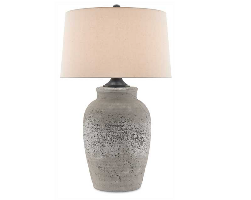 The Currey & Company Quest Table Lamp exudes soulful patina