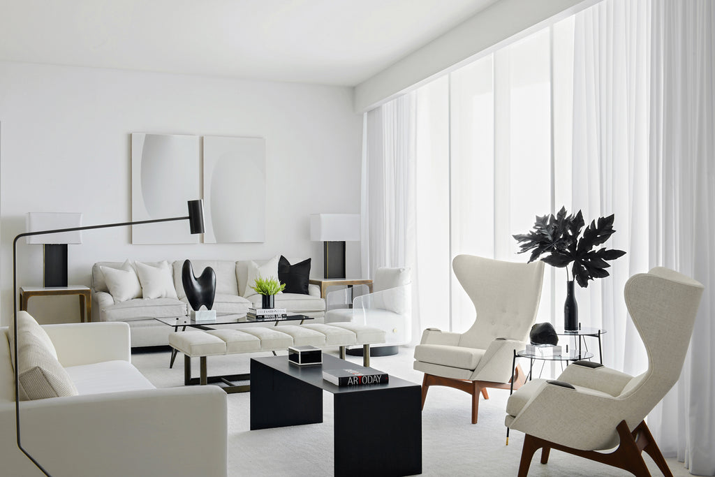 A dramatically sophisticated room designed by Sanchez + Coleman and photographed by Ken Hayden.