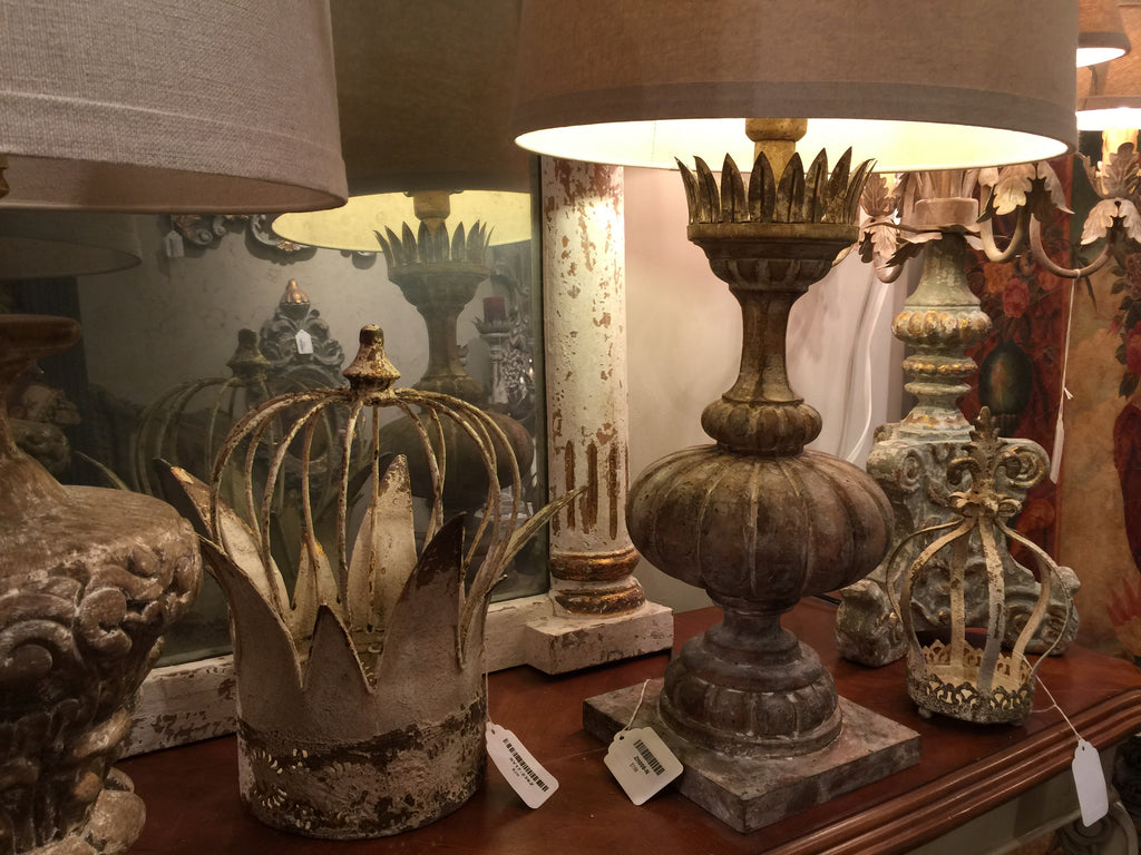 Provence Home has many products exuding patina in their showroom in AmericasMart