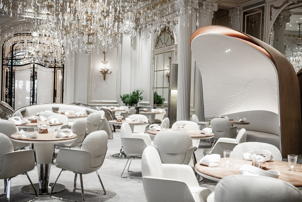 Restaurant Alain Ducasse at the Hotel Plaza Athénée in Paris. Image ©Pierre Monetta.