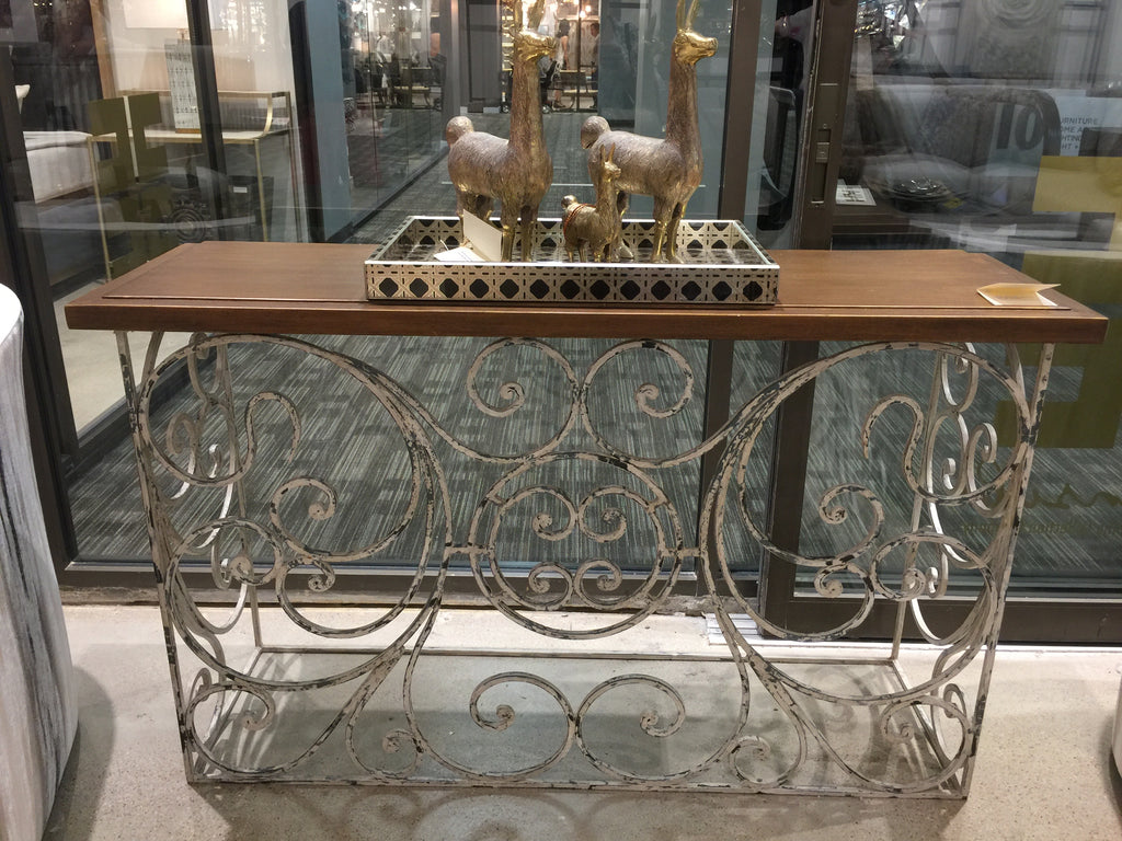The Touch of France showroom in the Dallas Market Center has great finds like this console table