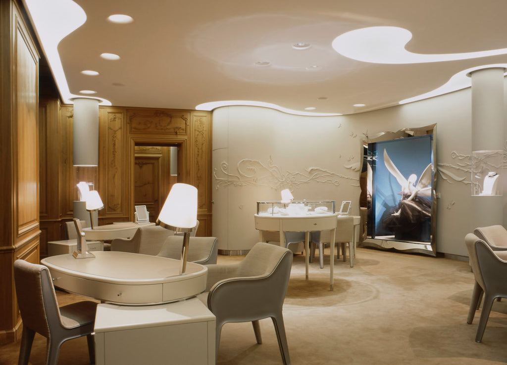 Van Cleef and Arpels salon in Paris designed by Patrick Jouin.