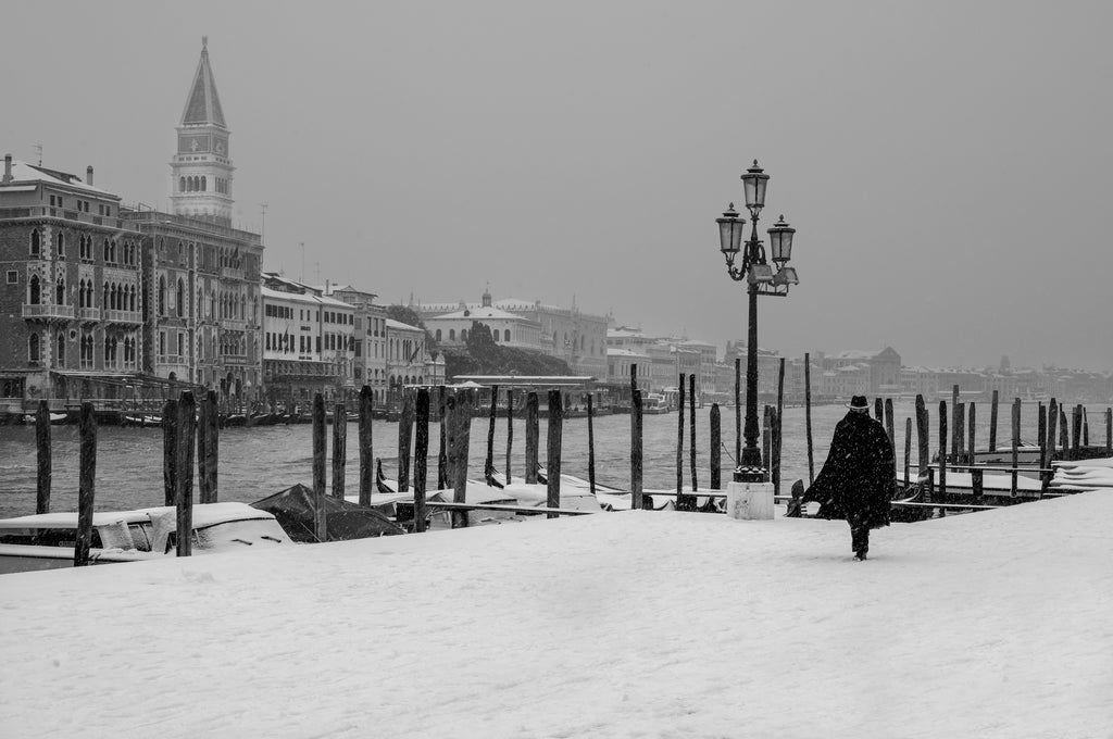 Fabio Bressanello, who has a lovely shop in Venice and handles image requests through the contact page on his website, took this photograph of a snowy Venice in 2018.