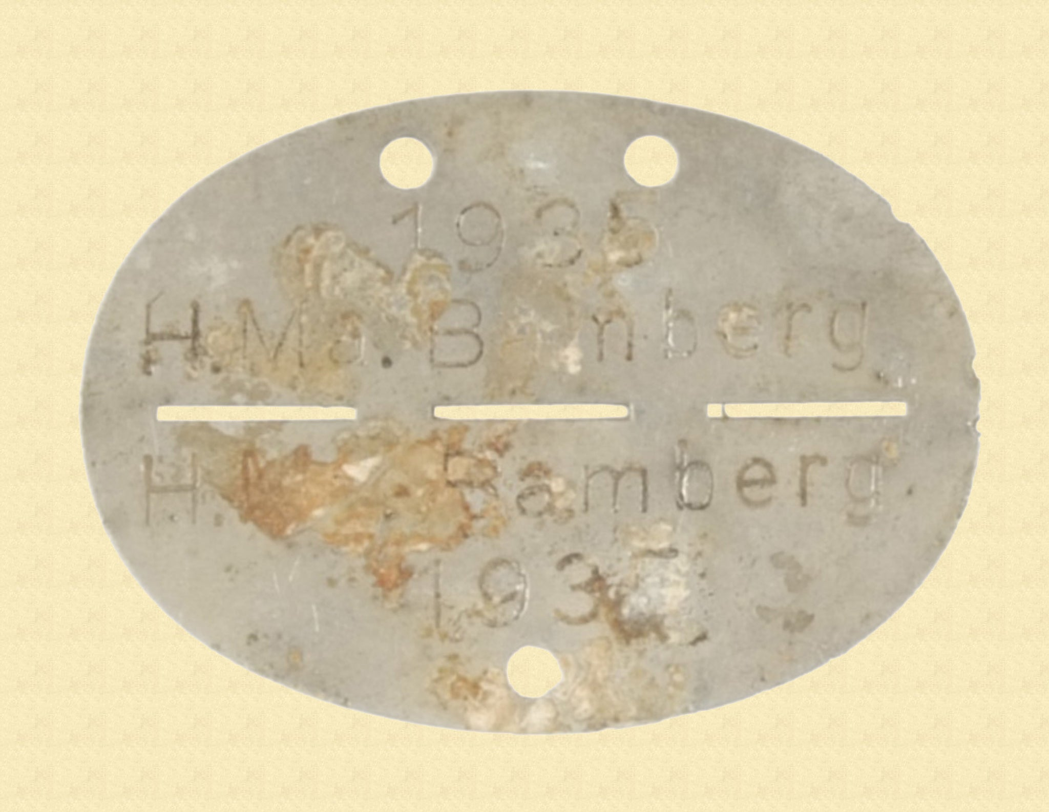 GERMAN WW2 ERA ID TAG