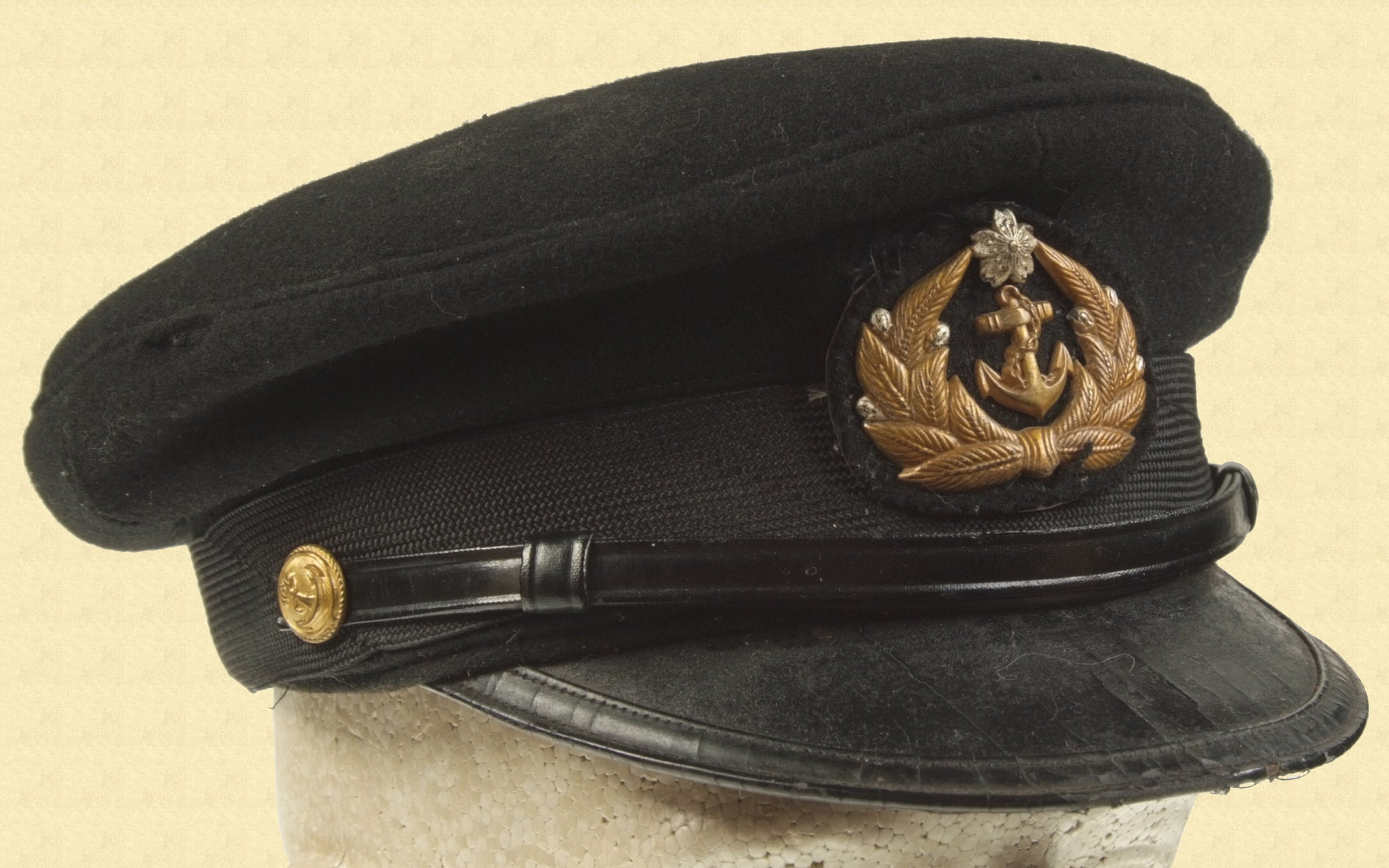 JAPANESE OFFICERS PEAKED HAT