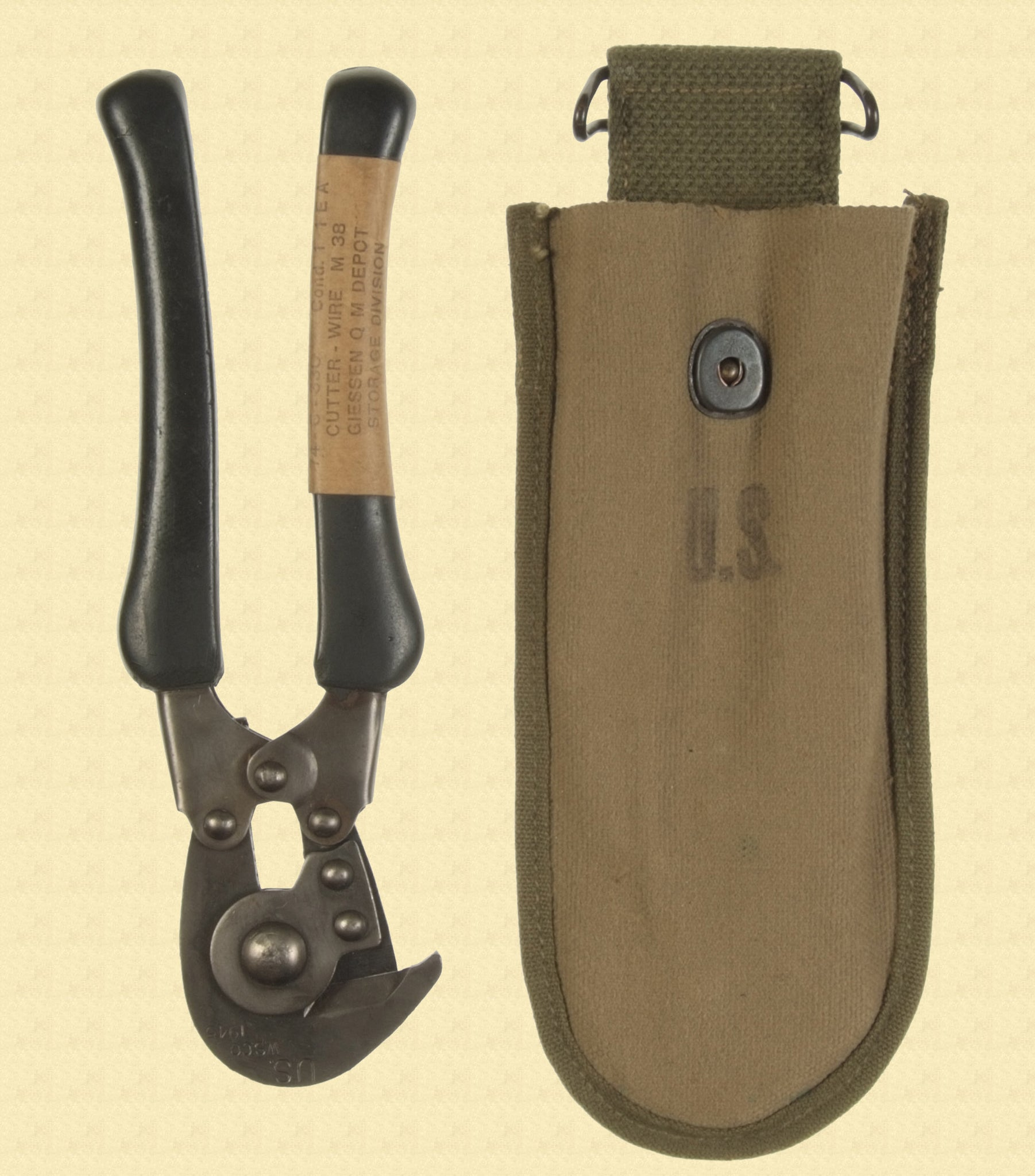 US WW2 WIRE CUTTERS WITH POUCH