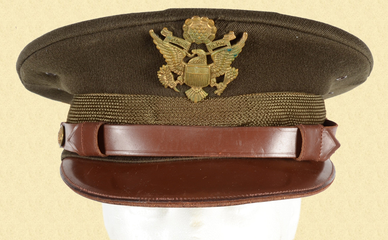 US WW2 OFFICERS VISOR HAT