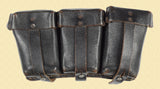 GERMAN RIFLE AMMUNITION 3 POCKET POUCH