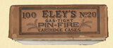 ELEY 20 GAUGE PINFIRE SHOTSHELLS