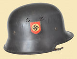 GERMANY POLICE HELMET DOUBLE DECAL W/LINER
