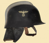 GERMAN M1934 SQUARE DIP FIREMANS HELMET