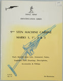 9mm STEN MACHINE CARBINE MARKS 1, 1*, 2 & 3